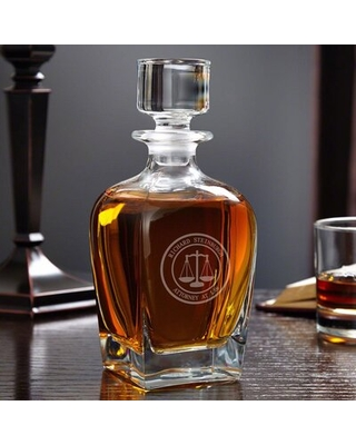 Senn Scales of Justice Personalized 24 oz. Whiskey Decanter