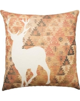 TheWatsonShop Deer Aztec Cotton Throw Pillow DFVAXSIDEDEERSIL