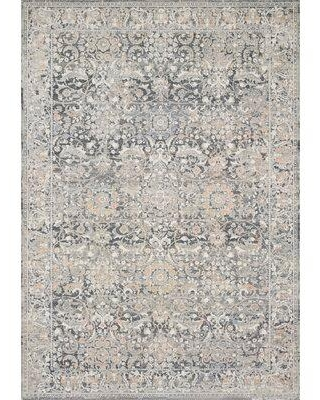 Darby Home Co Square Cudahy Ikat Gray Area Rug X112625442