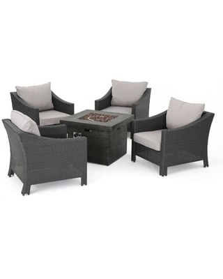Amarvesh 5 Piece Sofa Seating Group with Cushions