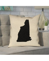 Get This Deal On Katelyn Smith State In Gold In Faux Linen Double Sided Print Throw Pillow Ivy Bronx Size 14 X 14 State New Hampshire