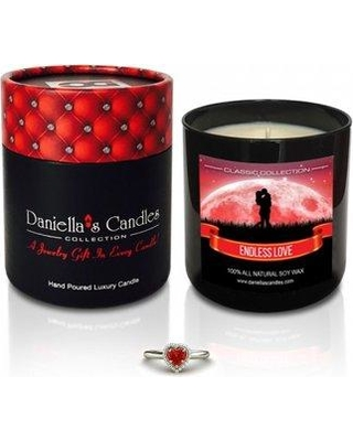 Daniella's Candles Endless Love Jewelry Scented Jar Candle HC100105-