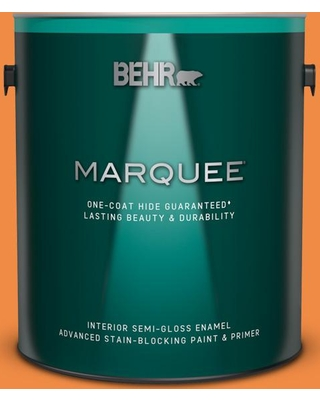 BEHR MARQUEE 1 gal. #250B-6 Poppy Glow Semi-Gloss Enamel Interior Paint and Primer in One