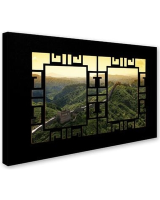 """Trademark Art """"Window Wall I"""" by Philippe Hugonnard Photographic Print on Wrapped Canvas PH0530-C Size: 16"""" H x 24"""" W x 2"""" D"""