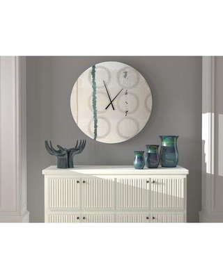 New Deal For Latitude Run Sapid Sprightly Abstract Metal Wall Clock X111503891 Size Small