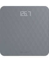 Designer Bathroom Scale with Textured Silicone Cover - Grey - Balance