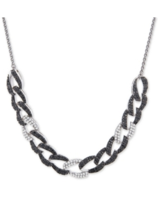 "Wrapped in Love Diamond Large Link 26"" Slider Necklace (1 ct. t.w.) in 14k White Gold, Created for Macy's"