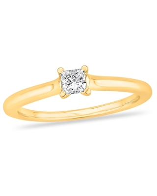 Jared Diamond Solitaire Engagement Ring 1/3 ct tw Princess-cut 14K Yellow Gold