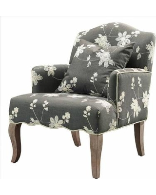 Floral Arm Chair - Linon 368312GRY01U