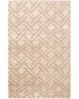 """One-of-a-Kind Salgado Hand-Knotted 2010s Moroccan Gray 5'1"""" x 7'11"""" Wool Area Rug"""
