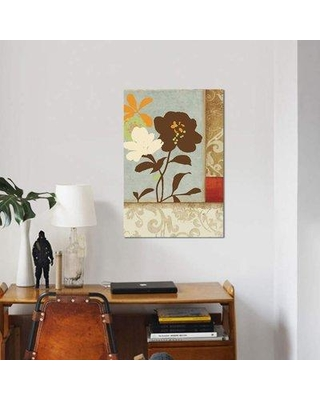 """East Urban Home 'Floral Damask I' Graphic Art Print on Canvas ETRB2866 Size: 26"""" H x 18"""" W x 0.75"""" D"""