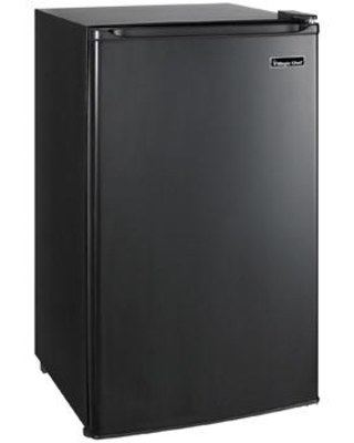 """MCBR350B2 19"""" Mini Refrigerator with 3.5 cu. ft. Capacity Full Width Freezer Compartment 3 Adjustable Glass Shelves and Can Dispenser in"""