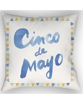 """The Holiday Aisle Cinco Indoor/Outdoor Throw Pillow HLDY1997 Size: 18"""" H x 18"""" W x 4"""" D"""