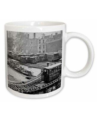 East Urban Home New York City Evening Skyline Coffee Mug X111750367 Color: White Capacity: 11 oz. Theme: New York George Washington Bridge