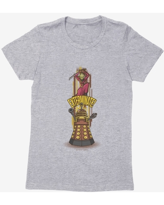 Doctor Who Exterminate Slogan Womens T-Shirt
