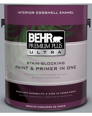 BEHR ULTRA 1 gal. #PPU26-19 Chance of Rain Eggshell Enamel Interior Paint and Primer in One