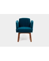 ARTLESS Allison Sled Base Upholstered Dining Chair A-A-2- Upholstery Color: Peacock