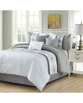 4087fc5ad4 Spectacular Savings on Hasson Embroidery 7-PC Queen Comforter Set ...
