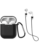 Bakeey Silicone Protective Case Set Wireless Earphone Anti-lost Rope Earphone Sleeve for Apple Airpods 2nd Generation