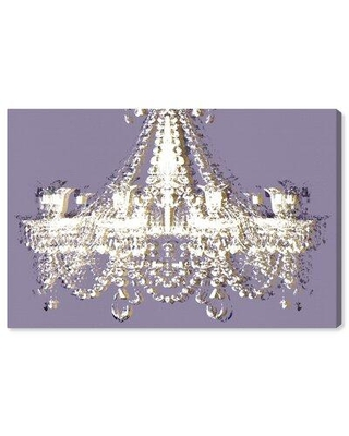 House of Hampton® Fashion & Glam Dramatic Entrance Spring Chandeliers - Painting Print on Canvas, Canvas & Fabric in Brown/Purple/White | Wayfair