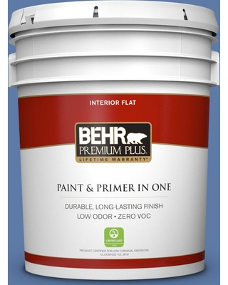 BEHR Premium Plus 5 gal. #M540-6 Miracle Elixir Flat Low Odor Interior Paint and Primer in One