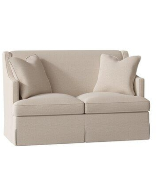 "Duralee Furniture Cardiff 60"" Recessed Arm Loveseat WPG10-615-60 Body Fabric: Gabriella Sand"