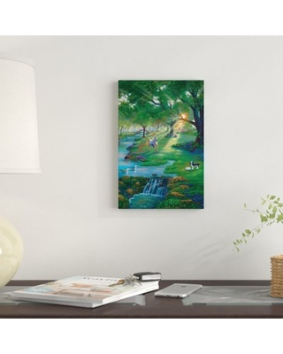 """'River Life' Graphic Art Print on Canvas East Urban Home Size: 26"""" H x 18"""" W x 0.75"""" D"""