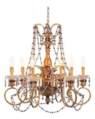 Shop Deals For Astoria Grand Forcier 6 Light Candle Style Classic Traditional Chandelier In Gold Size 25 H X 27 W X 27 D Wayfair