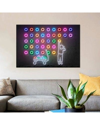 """East Urban Home 'Dots' Graphic Art Print on Canvas ESUI2547 Size: 40"""" H x 60"""" W x 1.5"""" D"""