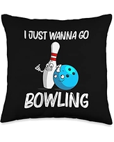 Best Bowler Ball Pin Bowl Player Sports Clothes Funny Gift for Men Women Bowling Team Spare Game Throw Pillow, 16x16, Multicolor