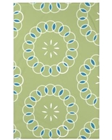 """e by design Happiness Is Floral Print Polyester Fleece Throw Blanket HFN185 Size: 60"""" L x 50"""" W x 0.5"""" D, Color: Avocado"""