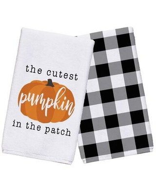 The Holiday Aisle Cutest Pumpkin in the Patch Tea Towel W000922033