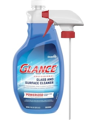 Glance Powerized Professional Glass & Surface Cleaner, Spray Bottle, 32 Oz, EA   Quill