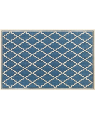 Couristan Monaco Ocean Port Trellis Indoor Outdoor Rug, Multicolor