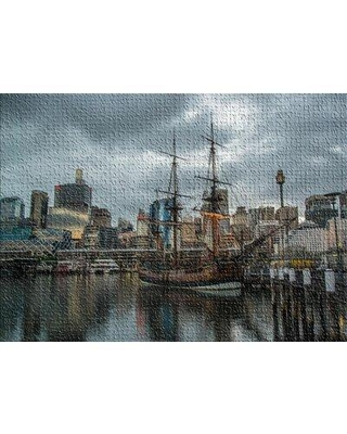 East Urban Home Darling Harbor Gray Area Rug X112016858 Rug Size: Rectangle 2' x 3'
