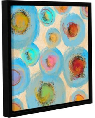 "Latitude Run Abstract Spring Flowers I Framed Painting Print on Wrapped Canvas LTRN5276 Size: 18"" H x 18"" W x 2"" D"
