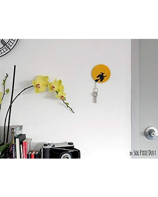 Witch Silhouette Key Holder