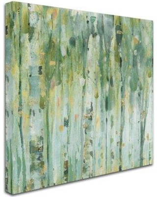 "East Urban Home 'The Forest III' Print on Wrapped Canvas EBHV2745 Size: 14"" H x 14"" W x 2"" D"