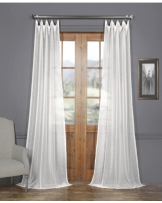 "Exclusive Fabrics & Furnishings Montpellier Striped Linen Sheer 50"" x 84"" Curtain Panel"