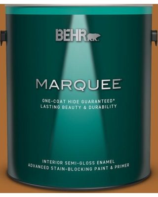 BEHR MARQUEE 1 gal. #280D-7 Sesame Crunch Semi-Gloss Enamel Interior Paint and Primer in One