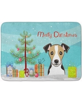 The Holiday Aisle Christmas Tree and Jack Russell Terrier Memory Foam Bath Rug THLA4981 Color: White/Black