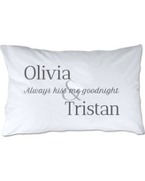 4 Wooden Shoes Personalized Always Kiss Me Goodnight Pillowcase WF-1-103