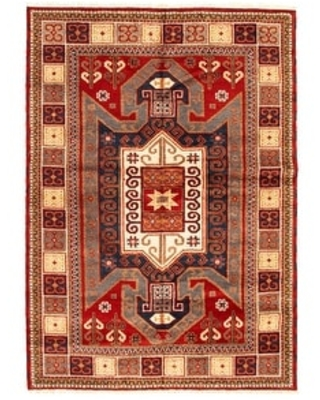 ECARPETGALLERY Hand-knotted Royal Kazak Red Wool Rug - 5'7 x 7'10 (Red - 5'7 x 7'10)