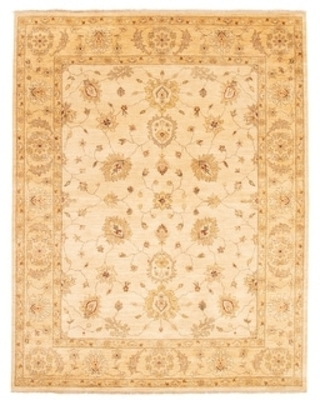 ECARPETGALLERY Hand-knotted Chobi Twisted Ivory Wool Rug - 7'11 x 10'1