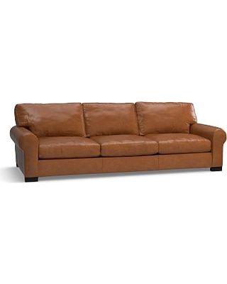 Turner Roll Arm Leather Grand Sofa 109