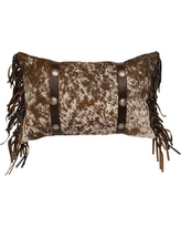 Wooded River Leather Lumbar Pillow WD80308