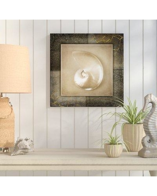 """Highland Dunes 'Light Gold Sea Warm 2' Graphic Art Print on Wrapped Canvas HLDS1891 Size: 35"""" H x 35"""" W x 2"""" D"""