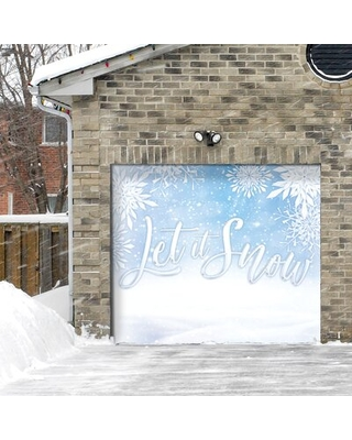 Let it Snow Door Mural The Holiday Aisle®