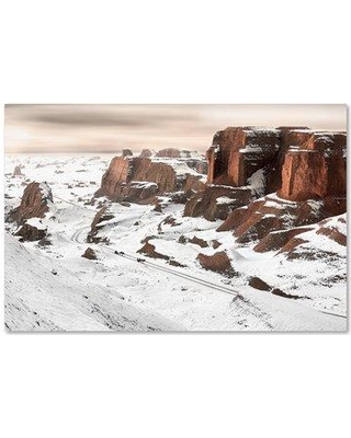 """Trademark Art 'A Ride Through Yardang' Photographic Print on Wrapped Canvas 1X02999-C Size: 16"""" H x 24"""" W"""