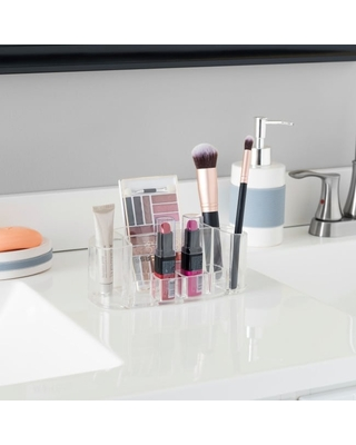 Oval Cosmetic Organizer, Clear (Handmade - Clear - Makeup Organizers)